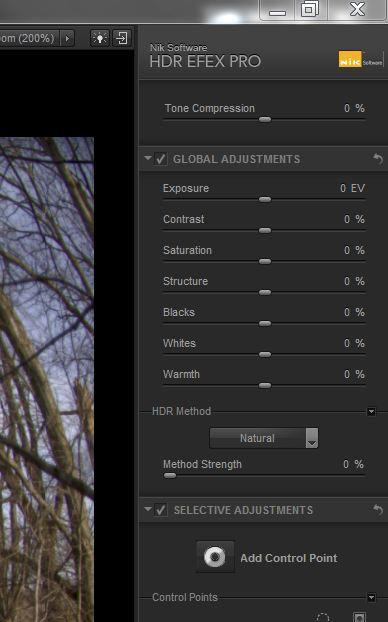 HDR Efx Pro sliders