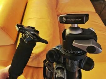 Nikon flash mount, Cheapo monopod and Gitzo Explorer & RRS BH-40